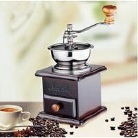 实木手动咖啡研磨机复古手摇磨豆机家用磨咖啡豆机磨粉机