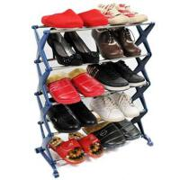 卡秀 不锈钢五层组合鞋架 三色可选蓝色均码  WK901