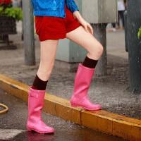 女式雨鞋雨靴时尚糖果色高筒女式水靴水鞋马靴