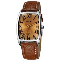2017年新款 EYKI艾奇 时尚酒桶型日历手表 罗马刻度 手表 女士手表  8546
