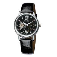 2017年新款 艾奇EYKI 自动机械表独特彩钻 星型镂空精美 女士手表 8543黑色