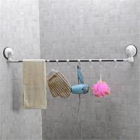 双庆 1028 吸盘不锈钢毛巾架 卫生间浴巾架 毛巾杆浴巾架  转角毛巾架