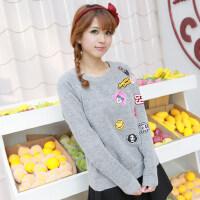 少女毛衣春装新款韩版女装宽松打底针织衫套头长袖潮女