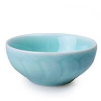 陶瓷故事 青瓷餐具 莲花饭碗 宋代龙泉窑传统技艺不含重金属陶瓷碗粉青