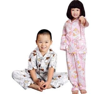金丰田夏季儿童节礼品儿童可爱卡通男女孩短袖长裤家居服睡衣套装1256