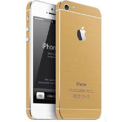 苹果iphone5闪钻贴膜 土豪金贴膜 变iphone5s土豪金膜 背膜 边框膜/闪