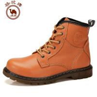 【新款】骆驼牌秋冬款女鞋 马丁靴厚底平跟中筒靴情侣款男女靴