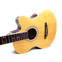 支持货到付款 彩虹吉他 民谣吉他 39寸 吉他 初学 入门 红色 宝石蓝色 黑色 白色 太阳色 粉色  原木色 天蓝色 (多色可选)细致做工  美产琴弦(送《即兴之路》+CD  拨片 一弦 拨片 背带 吉他扳手)BRG-39C