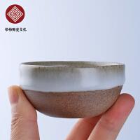 青釉陶泥圆口杯 碗茶杯功夫茶具茶壶简约盖碗陶瓷茶杯家用