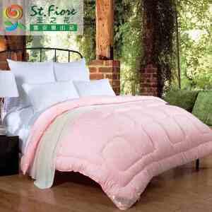 [当当自营]富安娜出品 圣之花秋冬磨毛被子被芯冬被 悦享四季被 粉色 1.8m