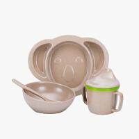 当当优品 壳氏唯HUSKS'WARE正品 环保儿童餐具套装 创意稻壳宝宝筷叉勺吸盘碗(考拉)