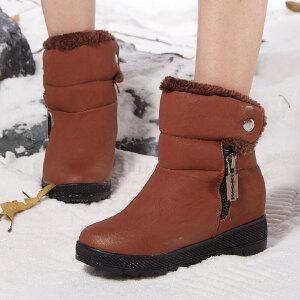 东帝名坊新款保暖加绒雪地靴