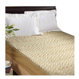 [当当自营]富安娜床垫床笠款保暖保护垫 立体水波纹保暖床垫 驼色 180*200
