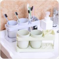 创意卫生间漱口杯牙刷架套装浴室情侣刷牙杯牙缸架组合