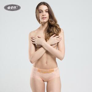 3条装 女士时尚竹纤维内裤 性感蕾丝平角裤2216