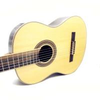 支持货到付款 单板吉他 印尼玫瑰木背板 进口亮光漆 面板单板吉他 古典吉他 古典吉他 古典吉他 初学 入门 专业 中级 通用 (送:防雨背包 古典吉他套弦 拨片 调节扳手《即兴之路》教材+CD)GC-208NT