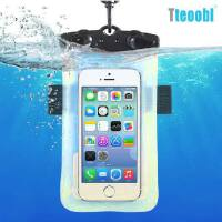 Teoobl 手机户外漂流防水袋 苹果iPhone6 5/5S三星note2/3小米HTC触屏手机智能漂流包/臂包 游泳防水保护套/臂带 漂流游泳收纳包相机潜水套