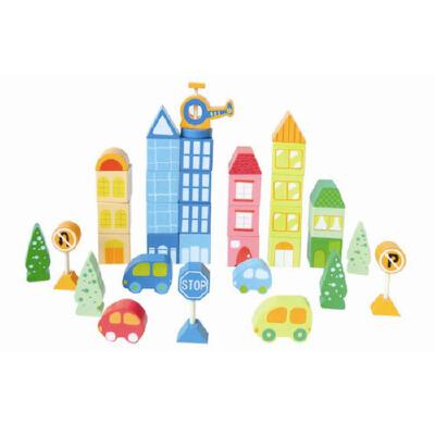 童心现代城市积木tx-8030