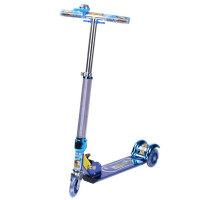 小丽明全铝三轮激光踏板车 折叠闪光滑板车 童车滑轮车XLM-6061