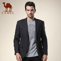 CAMEL 骆驼男装 新品 新款休闲西服 男士修身时尚便西