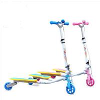 蛙式三轮折叠滑板车 单刹闪光滑轮车 蛙式四轮溜溜车
