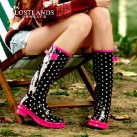 女士雨靴雨鞋草莓慕斯女式水鞋高筒水靴时装雨鞋