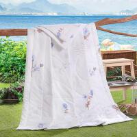 纯棉夏凉被 清爽透气空调被 单双人夏被200*230cm、150*200m  环保印花空调被 夏被 被子 多花色可选