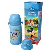 迪士尼 5573 保温保冷多用壶 双盖双层儿童水杯水壶600ml 有黄维尼熊 粉色米妮