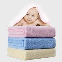 优雅100 纯棉婴儿浴巾 无捻纱超柔加厚款宝宝浴巾 洗澡巾 儿童浴巾 无添加剂 掉毛率低 32支双股