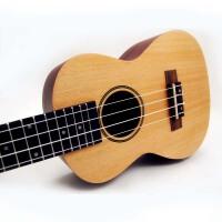 (货到付款)Rockman 24寸 尤克里里 专业小吉他 ukulele 尤克里里 成人小四弦 尤克里里 云杉木面板 沙比利背侧板 封闭弦钮 不易跑音 可爱设计 简洁 低调 RU-24-W  送(琴套+3个匹克+教程一本)