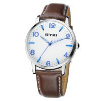 2017新款EYKI艾奇 时尚情侣表之男表 个性皮带手表 商务休闲时装表 8621