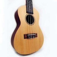 (货到付款)  vorson ukulele 23寸 尤克里里 小四弦琴  玫瑰木指板 23寸 C型 乌克丽丽 小吉他 枫木面板  送(背包+三片拨片+教程)RU-24-W
