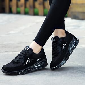 奇安达女士慢跑鞋2017新款女款气垫减震运动休闲跑步鞋慢跑鞋增高鞋