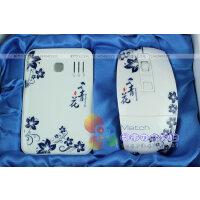 青花瓷2件套  随身便携充电宝 折叠无线鼠标+移动电源 商务礼品