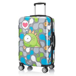 【可礼品卡支付】24寸 OSDY新款拉杆箱 个性印花箱 男女旅行箱星座系列万向轮海关锁行李箱