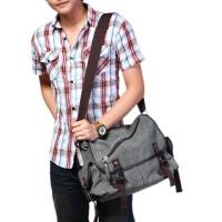 男士帆布包单肩包韩版学院风男包休闲包斜挎包书包邮差包