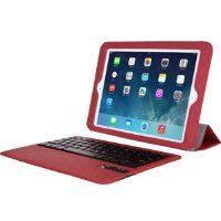 SeenDa苹果iPad Air mini2/1电压版可拆卸无线蓝牙键盘皮套 iPad5纤薄休眠保护套 iPad Air保护壳 ipad mini保护套【赠贴膜+防尘塞】