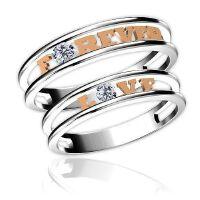 梦克拉 对戒18K金钻石戒指情侣对戒结婚戒指 奇缘 创意礼品