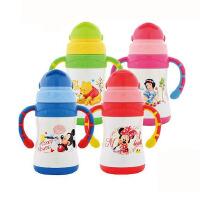 包邮 Disney迪士尼婴幼儿吸管杯 220ML带刻度吸管保温水杯 5722可爱双手柄保温杯子