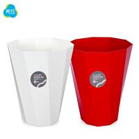 茶花玫瑰垃圾桶时尚创意垃圾桶欧式家用客厅无盖大纸篓两个装