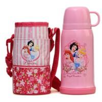 包邮!迪士尼 500ML 不锈钢保温瓶 保温杯3208 杯套款 粉红白雪公主