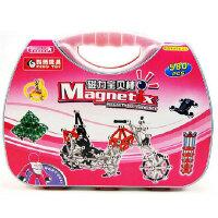 科博 磁力棒儿童早教益智玩具 拼插建构玩具 智力开发玩具 磁力玩具 礼物 580件工具箱
