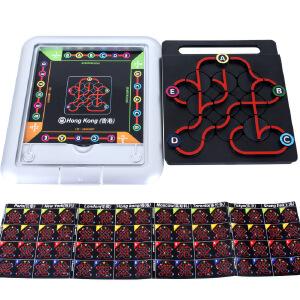 小乖蛋 地下铁 任务迷宫游戏64种挑战 逻辑推理桌面玩具 儿童玩具