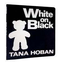 White on Black黑底白字 吴敏兰推荐绘本123 第2本 儿童英文原版绘本 纸板书 幼儿启蒙认知读物 黑色的背景、白色的形状,家长和宝宝一起分享讨论这些熟悉的事物 阅读起步书 适合0-2岁