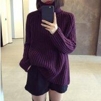 实拍2015冬季新款休闲纯色 韩版加厚粗线高领长袖套头毛衣