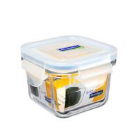 GLASS LOCK 三光云彩  韩国进口钢化玻璃乐扣保鲜盒微波炉碗迷你饭盒RP545 210ML  EC2105