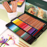 创意文具秘密花园 填色 MARCO马可雷诺阿水溶性彩色铅笔 3120 -48色  36色  24色 水溶彩铅 铅笔套装铁盒可可画秘密花园和飞鸟等入门手绘涂色书本