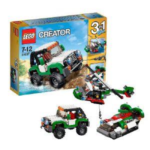[当当自营]LEGO 乐高 CREATOR创意百变系列 水陆空三合一探险车 积木拼插儿童益智玩具 31037
