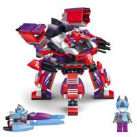 星钻积木 赛尔号战神联盟塑料拼装积木拼插 儿童益智玩具 布莱克VS佐格机甲80231