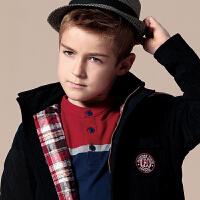 英格里奥童装男童装新款冬装儿童大童外套韩版潮LLB1541